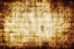 Gothic text document Stock Photo