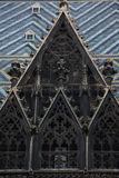 Gothic tile roof and window Royalty Free Stock Photos