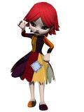 Gothic Toon Figure Royalty Free Stock Images