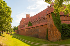Gothic Teutonic castle in Malbork, Poland. Stock Photography
