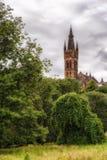 Glasgow University. The gothic tower of Glasgow University Stock Image