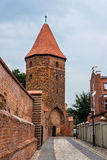 Gothic tower in Lebork, Poland. Stock Images