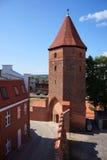 Gothic tower in Lembork, Poland. Royalty Free Stock Image