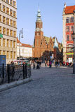 Gothic Tower of the Old Town Hall in Wroclaw Stock Image