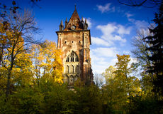 The Gothic tower, Pushkin, Russia Royalty Free Stock Images