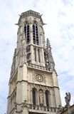 Gothic tower of st. germain d auxerrois - Paris Royalty Free Stock Image