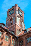 Gothic tower of town hall in Torun-city on The World Heritage Li Stock Photo