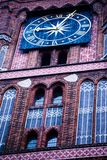 Gothic tower of town hall in Torun-city on The World Heritage List. Stock Photos