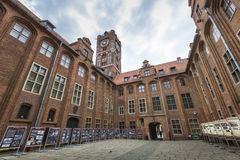 Gothic tower of town hall in Torun-city  Royalty Free Stock Photo
