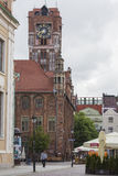 Gothic tower of town hall in Torun-city  Stock Image