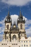 Gothic towers from prague Stock Images