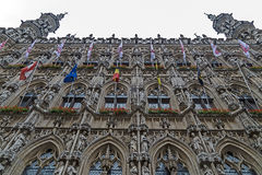 Gothic Town Hall on the Grote Markt in Leuven, Belgium Royalty Free Stock Photography