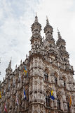 Gothic Town Hall in Leuven, Royalty Free Stock Photo
