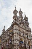 Gothic Town Hall in Leuven,. Belgium royalty free stock photo