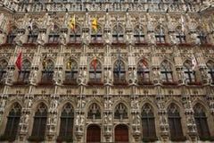 Gothic Town Hall in Leuven, Belgium. Stock Photo