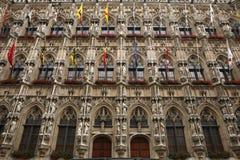 Gothic Town Hall in Leuven, Belgium. Royalty Free Stock Photo