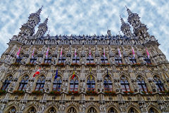 Gothic Town Hall in Leuven, Belgium Royalty Free Stock Photos
