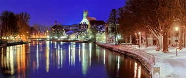 Gothic town Landshut on Isar river by Munich, Bavaria, Germany Stock Image