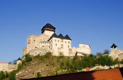 Gothic Trencin castle Stock Images