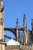 Gothic turrets of St. Vitus cathedral in Prague Stock Photos