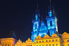 Gothic Tyn Cathedral  Old onTown Square, Prague Stock Images