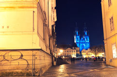Gothic Tyn Cathedral ,Prague, Czech Republic Royalty Free Stock Images