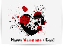 Gothic Valentines day card Royalty Free Stock Photos