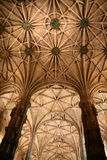 Gothic vault. In Lisbon cathedral Royalty Free Stock Photos