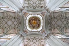 Gothic vault of the ceiling. View from below Stock Image