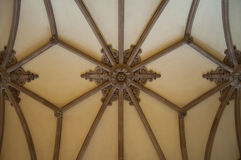 Gothic vault. Photo of a gothic vault Stock Images