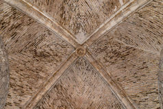Gothic Vaulted Ceiling  at Lorca Castle Royalty Free Stock Image
