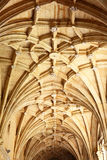 Gothic vaulting in an old temple Stock Photo