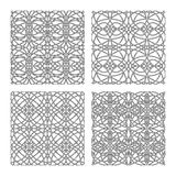 Gothic patterns set Stock Images