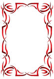 Gothic vertical frame on a white background. Tribal Stock Photos