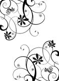 Gothic vine. Gothic grunge floral design in black and white Royalty Free Stock Photography