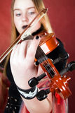 The gothic violinist. Royalty Free Stock Photo