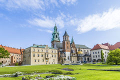 The Gothic Wawel Castle in Kraków in Poland Stock Photography