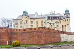 Gothic Wawel Castle in Krakow in Poland Stock Image