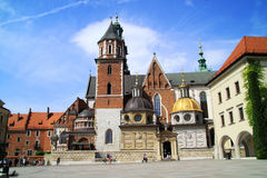 The Gothic Wawel Castle in Krakow Poland Stock Photography
