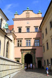The Gothic Wawel Castle in Krakow Poland Stock Images