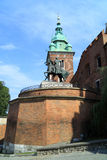The Gothic Wawel Castle in Krakow in Poland was built from 1333 to 1370 Royalty Free Stock Images