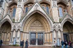 The gothic Westminster Abbey church in London, UK Stock Photography