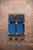 Gothic Window. Gothic leaded window of The Alhindiga of Segovia, in Spain Royalty Free Stock Photos