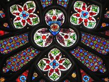 Gothic window in church Royalty Free Stock Photography
