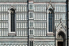 Gothic window - a detail of the facade  the Duomo cathedral in Florence, Italy Stock Photography