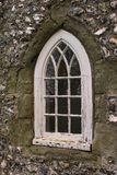 Gothic window at Lewes castle stock photo