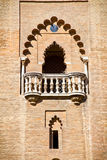 Gothic window in the medieval cathedral of Seville Stock Photo