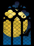 Gothic Window and Moon Royalty Free Stock Photo