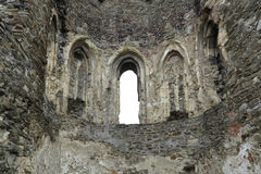 Gothic Window - Okor Castle Royalty Free Stock Image