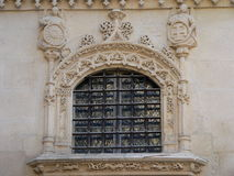 Gothic window. Outside detai of the Constable´s chapel, Burgos cathedral (Spain Stock Photos